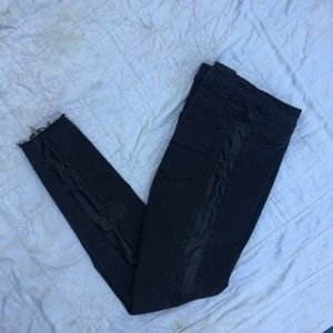 leather lined skinny jeans